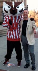 John Booske with Bucky